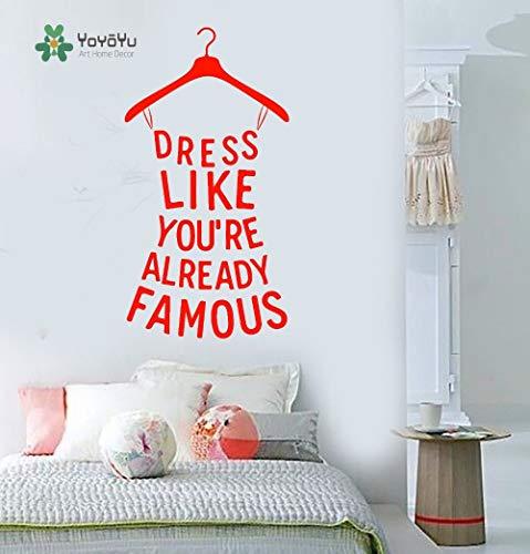 Crjzty Leuchte Sternenhimmel Wandtattoo Mädchen Raumdekoration Vinylwanddekor Zitat Abnehmbare Lustige Kleid Form Wandaufkleber 57X110 cm