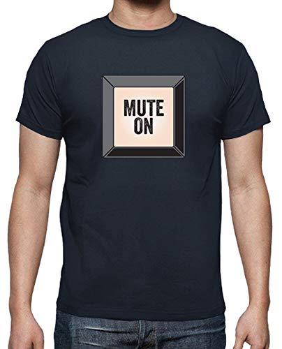 tostadora - T-Shirt Mute On - Uomo Blu Marino L