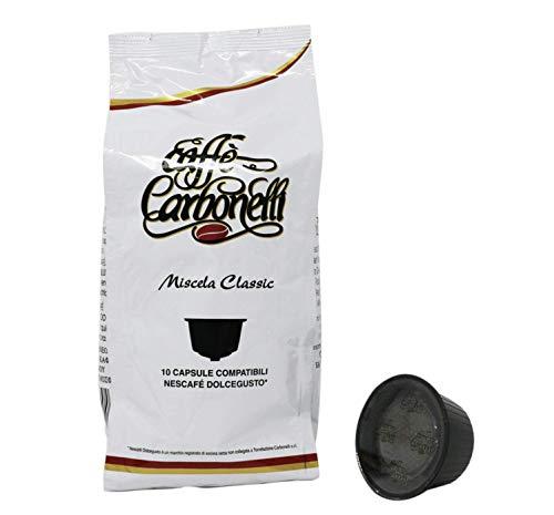 Caffè Carbonelli Compatibili Nescafè DOLCE GUSTO - Confezione da 120 Capsule Miscela Classic (12 buste da 10 capsule)