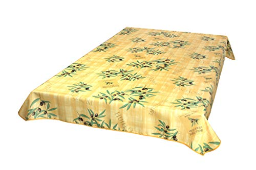 Provencetischdecke Huile d'Olive 240x150 cm, Gelb, Jaune, Outdoor Enduit