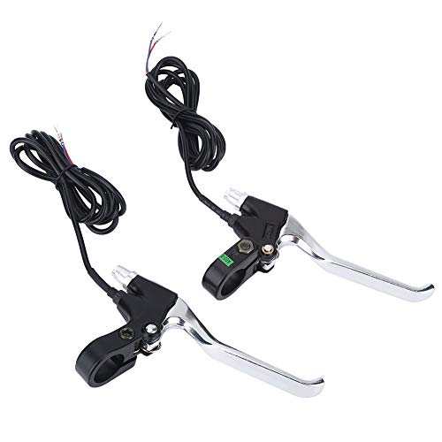 Fafeims 1 Pair 2 Wires Universal Left Right Brakes E-Bike Brake Lever V-Brake Lever Replacement Parts