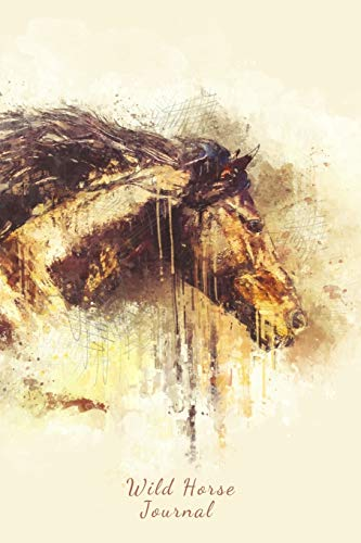 Wild Horse Journal: Beautiful Sketch Painting of a Horse, Lined Writing Paper Notebook
