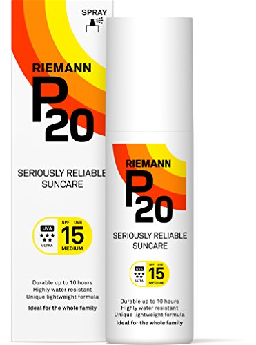 Riemann P20 Sunscreen SPF15 Spray 100ml | Long Lasting UVA & UVB Protection for up to 10 hours | Highly Water Resistant