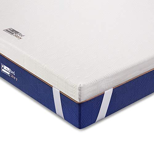 BedStory Komfortabler 7 Zonen Matratzentopper aus Kaltschaum (Größe 140 x 200 x 5 cm), orthopädischer Topper als Matratzenauflage für unbequeme Betten/Matratze/Boxspringbett
