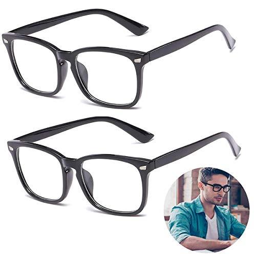 Blaulichtfilter Brille (2 Pack) Filtern 95% des Blaulichts Gaming Brille für PC Handy und Fernseher Anti-Müdigkeit Unisex Computerbrille Schutz gegen Schlaflosigkeit Kopfschmerzen