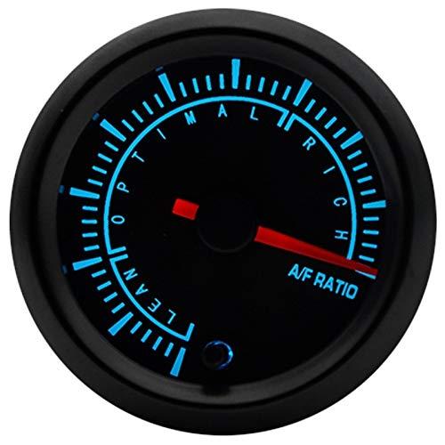 """Odometer Spur 2"""" 52mm 7 Farben LED-Boost-Wassertemperatur Öltemperatur Öldruck Voltmeter Luft-Kraftstoff-Verhältnis Tachometer RPM Wagen Spur ZHQHYQHHX ( Color : Air fuel ratio , Size : Kostenlos )"""