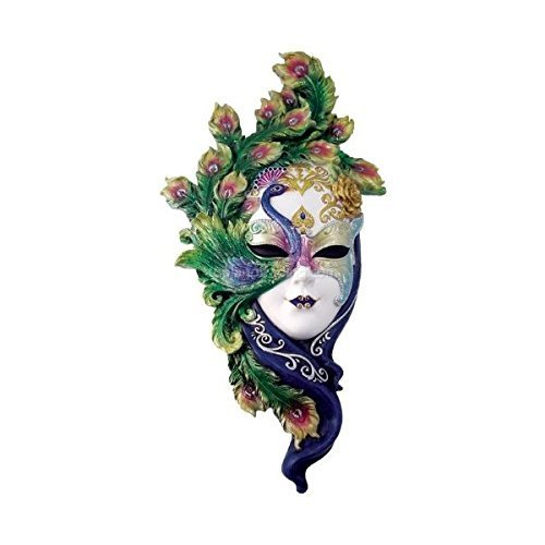 Lady pavo real Estilo veneciano máscara de carnaval de decoración de la pared
