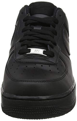 Nike Wmns Air Force 1 '07 - Zapatos Mujer, Negro (Black / Black), 38.5 EU