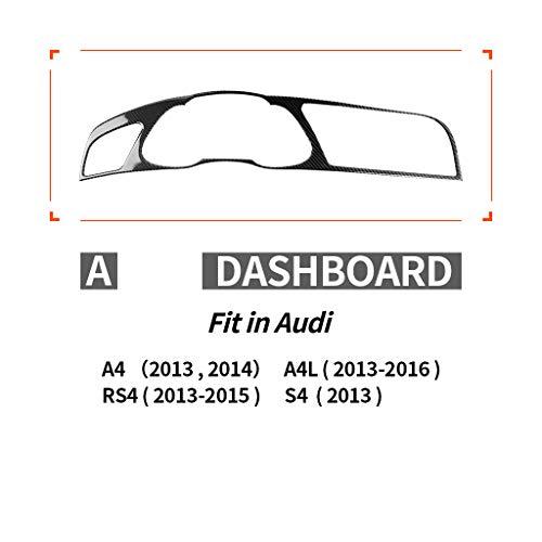 Decalcomania per interni, fibra di carbonio, SLine Quattro, per Audi A4 S4 A5 S5 2009-2016, guida a sinistra