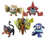 SXhyf 2020NEW5pcs Pokemon Bambola Charmander Popplio Litten Pikachu Rowlet Treecko Eevee Fennekin Grande Regalo Anime Action Figure Giocattolo Decor 3-7cm