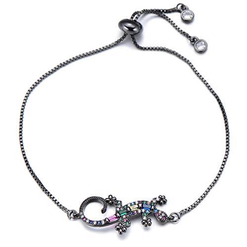 Mano Pulseras Brazalete Joyería Mujer Punk Charm Bracelet Fashion Party Jewelry Princess Zircon Pulseras para Mujer Negr