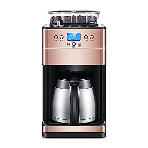 Fantastic Deal! Coffee Maker Machines Office Home Bean Bean Powder Dual-Use Full Automatic Grinding ...