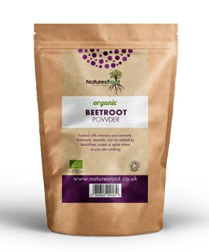 Natures Root Polvere Barbabietola Biologica 250g - Superfood Circolazione | Acceleratore Premium Ossido Nitrico | No OGM | Ricco Nitrato