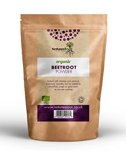 Natures Root BIO Rote Beete Pulver 250g - Glutenfrei | Überschwemmungen und vollständige | Antioxidans | Super Lebensmittel ideal für Sportler