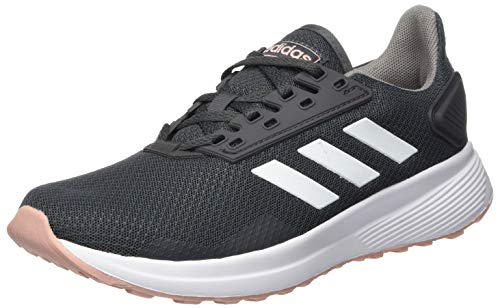 adidas Damen Duramo 9 Sneaker, Grau (Grey/Footwear White/Pink Spirit), 39 1/3 EU