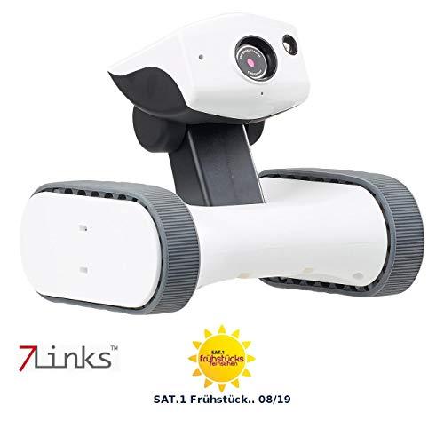 7links Roboter: Home Security Rover convideo HD, visione notturna IR, monitorabile in tutto il mondo (robot di sorveglianza).