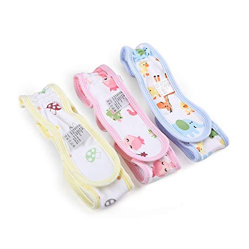 Stoffwindelverschluss, verstellbar, flach, für Babys, wiederverwendbar, waschbar, ersetzt Windelnadeln, 3 Stück