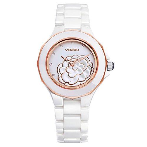 Stilvolle Keramik-Uhr/Einfach lässig wasserdichte Armbanduhr/Damen-Quarzuhr-A