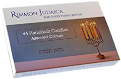 Rimmon Judaica 44 Colourful Hanukkah Candles - Enough For All 8 Nights - Standard Size Fits Most Menorahs #1