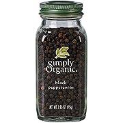 Simply Organic Whole Black Peppercorns, Certified Organic | 2.65 oz | Piper nigrum L.