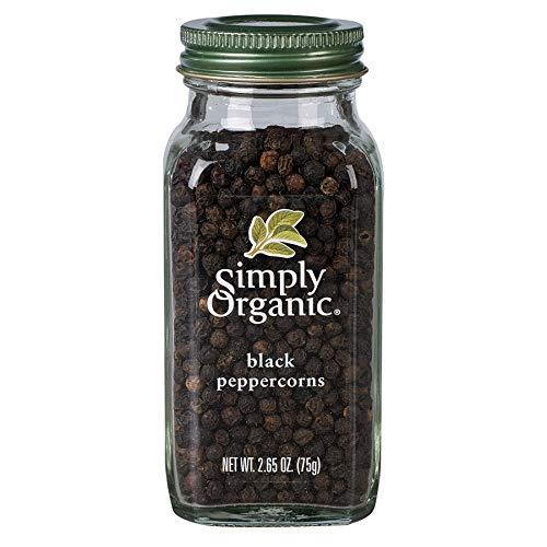 Simply Organic, Pimienta Negra Entera, 75 Gr.