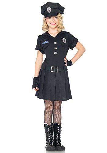 LEG AVENUE C48171 - Playtime Police Kinderkostüm Set, Größe S, schwarz