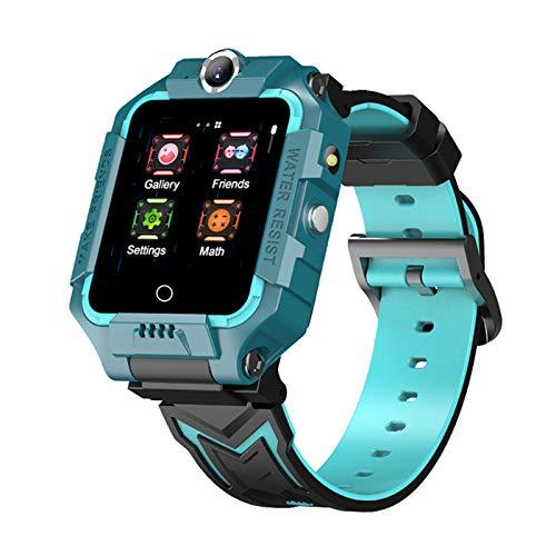 WESSD 4G - Reloj inteligente para niños con GPS, localizador de posicionamiento, WiFi, HD, videollamada, cámaras duales, SOS regalo de cumpleaños para niños y niñas