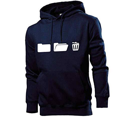 Generisch shirt84.de - Archivador con papelera con capucha para hombre azul marino S
