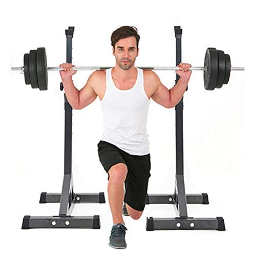 Pesistica Rack Squat, Portatile Regolabile Bilanciere Rastrelliera, Attrezzatura per Il Fitness