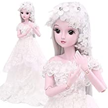 Funnybuy BJD Dolls 1/3 SD Doll 23.6 inch 19 Joint Ball Jointed Dolls DIY Toys with Full Set Girls Gift Mona