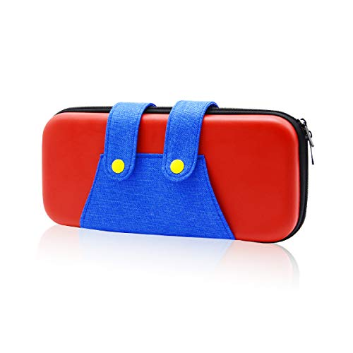 Switch Carrying Case for Nintendo, Yocuby Switch Case Portable Travel Carry Case Compatible with Nintendo Switch Console & Accessories, Protective Shell Switch Storage Bag with Game Storage (Red)
