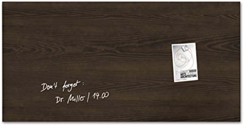 SIGEL GL259 Glas-Magnetboard 91 x 46 cm Dark-Wood, Holzoptik   Magnettafel Artverum - weitere Designs Gren