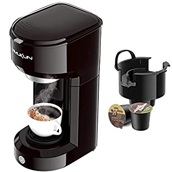 Single Serve Coffee Maker Coffee Brewer Compatible with K-Cup Single Cup Capsule with 6 to 14oz Reservoir Mini Size  Black