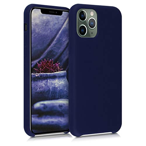 kwmobile TPU Silicone Case Compatible with Apple iPhone 11 Pro - Soft Flexible Rubber Protective Cover - Deep Blue Sea