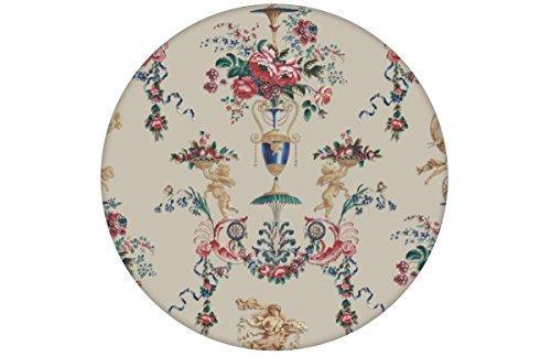 Klassische Tapete in beige'In Elysium' mit üppigen Rosen und historischer Rococo Putti, Vliestapete...