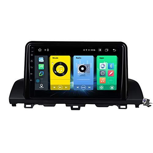 Buladala Android 9.1 9' Pantalla Táctil Completa Reproductor Multimedia para Honda Accord 10 CR 2018 Soporte GPS Navigation/FM RDS Stereo Radio/BT Hands-Free Calls/Control del Volante,7862: 6+128