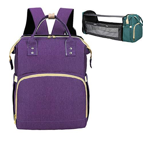 PING bebé bebé bebé cambiador bolsa portátil plegable cuna pañal mochila cochecito correas para viajes al aire libre