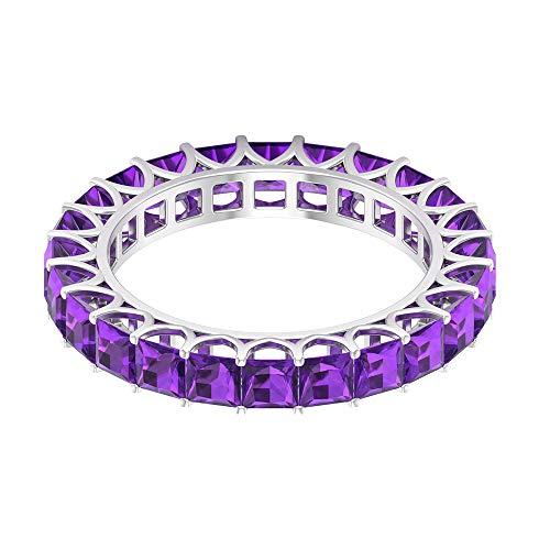 Rosec Jewels 10 quilates oro blanco talla princesa violeta Amethyst