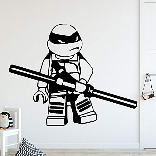 yaonuli Anime Tortuga Familia decoración Pegatinas de Pared habitación Infantil decoración de la Sala Pegatinas para el hogar decoración del hogar 28x34cm