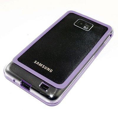 Samsung Galaxy S2 Bumper, Hülle Cover Slim Hülle [Silikon TPU Rahmen] Stoßfeste Handyhülle für Samsung Galaxy S2 (i9100) Schutzhülle [Lila]