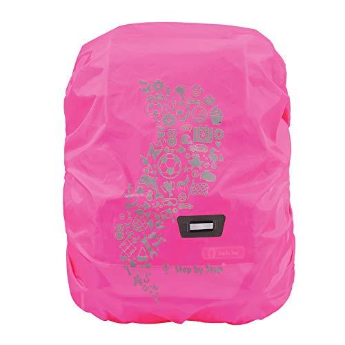 Step by Step Regen-/Sicherheitshülle, reflektierend, pink, passend für alle Schulranzen und Tornister, schützt vor Regen und Schmutz, M