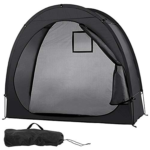 YCXYC Bicycle Tent,190T Bike Storage Shed,Bicycle Garage,Tidy Tent,Bike Shelter,Bicycle Cover,Protective Tent,Bicycle Cycle Tent,Bike Storage Shed Tent,Waterproof,Outdoor Garden Storage Tent,Black