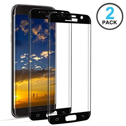 DOSNTO Screen Protector Samsung Galaxy S7 Edge Tempered Glass Full Coverage [Case Friendly] [Edge to Edge] [Bubble Free][Anti-Scratch][Touch Sensitive][Ultra HD] Screen Guard Saver Shield Film