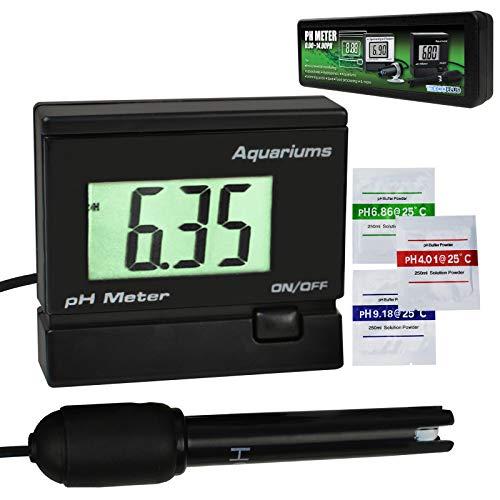 Digitale pH-Wasser-Wasser-Messgerät-Prüfgerät-Monitor mit austauschbarer BNC-Elektroden-Sonde Einstellbare Montagehalterung für Aquarium-Tank Wasserdicht
