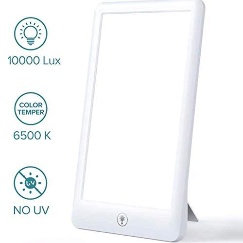 SAD Daglichtlamp 10000 Lux Light Therapy Lamp Bionic Sun lamp UV-vrij 3 helderheidsniveaus met inklapbaar draagframe Emotion Control thuis kantoorgebruik Ouoy