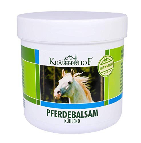 Pferdebalsam kühlt und belebt, wertvolle Kräuterextrakte aus Rosskastanie, Arnika, Rosmarin und Minzöl