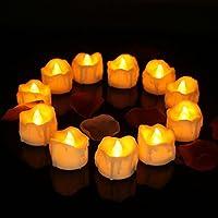 UTILITY: le candele LED a luce di tè forniscono un effetto tremolante realistico, ideale per feste, cerimonie nuziali, compleanni e anniversari, riunioni di chiesa. Resistente al vento sia per interni che per esterni, in case, ristoranti, chiese, scu...