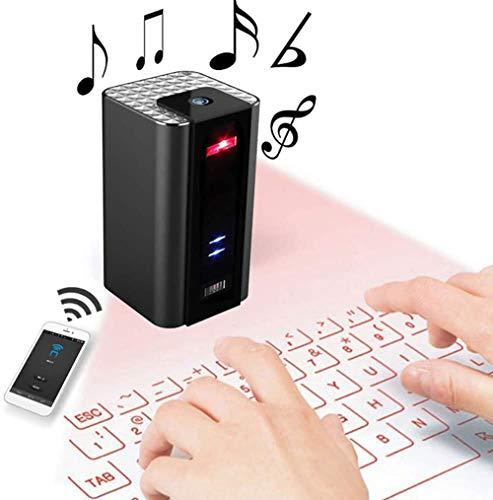 XMYL Proyector De Teclado Proyección Inalámbrica Bluetooth Teclado Proyectado con Función De Audio, Llamada Manos Libres Portátil,...