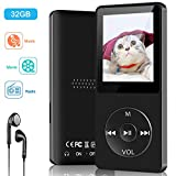 Aigital MP3 Player with Speaker FM Radio/E-Book/Game,Portable MP3 Music Player with 32 GB