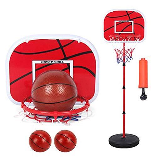 ZXCVB Soporte de baloncesto para niños, Kindergarten Shooting ajustable estudiante juguete niño entrenamiento al aire libre accesorios de baloncesto juego al aire libre bola casa 3 bolas